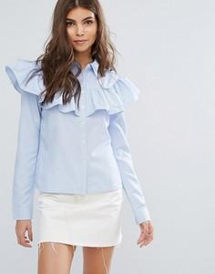 Блузка с оборкой Unique21 Impact - Синий