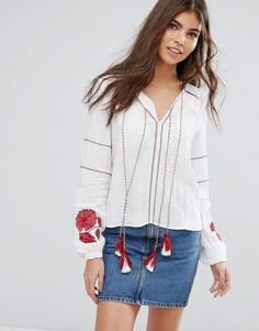 Блузка с кисточками Unique21 - Кремовый