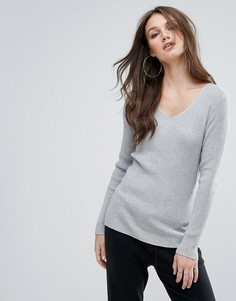 Джемпер в рубчик Vero Moda - Серый