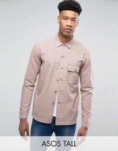 Розовая рубашка навыпуск ASOS TALL - Розовый
