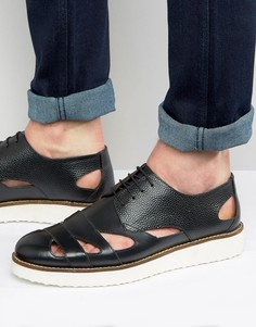 Черные сандалии на шнуровке London Brogues - Черный