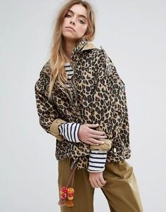Свободная куртка в стиле милитари со складывающимся капюшоном Maison Scotch - Мульти