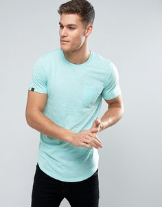 Удлиненная футболка с карманом Produkt - Синий