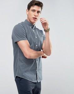 Рубашка с короткими рукавами и цветочным принтом Produkt - Темно-синий