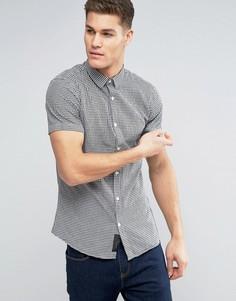 Рубашка в клетку с короткими рукавами Produkt - Черный