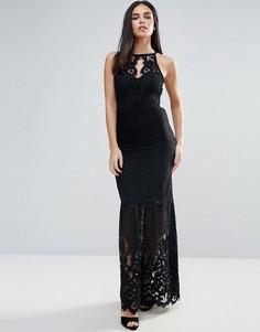 Платье макси в стиле колор блок Lipsy - Черный