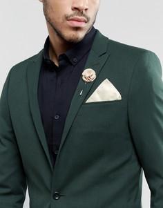 Платок для нагрудного кармана и булавка на лацкан кремового цвета Gianni Feraud - Кремовый