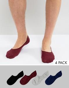 Набор из 4 пар низких носков Jack & Jones - Мульти