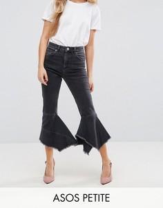 Черные выбеленные джинсы слим в винтажном стиле с завышенной талией ASOS PETITE FARLEIGH - Черный