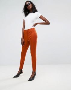 Выбеленные облегающие брюки с декоративной отделкой ASOS - Красный