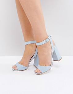 Туфли из искусственной замши на блочном каблуке New Look - Белый