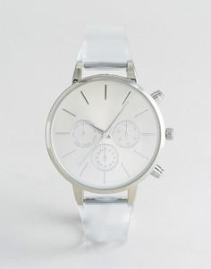 Спортивные часы с прозрачным ремешком New Look - Белый
