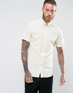 Облегающая рубашка с короткими рукавами Selected Homme - Белый