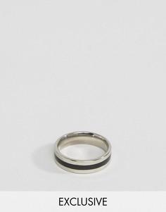 Кольцо с черной отделкой Reclaimed Vintage Inspired - Серебряный