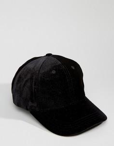 Бархатная бейсболка Systvm - Черный