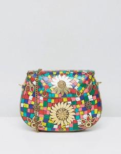 Металлическая сумка через плечо с плиточным принтом Glamorous - Мульти