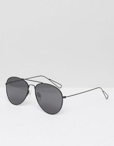 Солнцезащитные очки-авиаторы Weekday Tour - Черный
