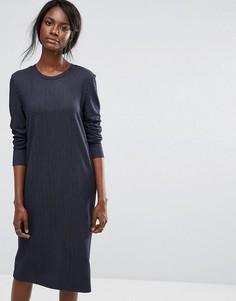 Платье в тонкую полоску Selected - Синий