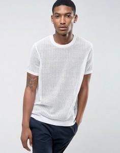 Белая сетчатая футболка ASOS - Белый