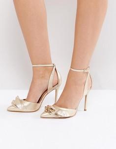 Туфли на каблуке цвета металлик Carvela - Золотой