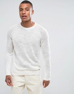 Джемпер с рукавами реглан из 100% льна Esprit - Кремовый