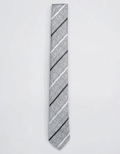 Галстук в полоску Selected Homme - Серый