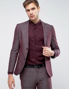 Фактурный облегающий пиджак Jack & Jones Premium - Красный