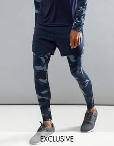 Леггинсы для бега с шортами Ellesse - Темно-синий