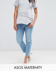 Светлые прямые джинсы ASOS MATERNITY FLORENCE Cambridge - Синий