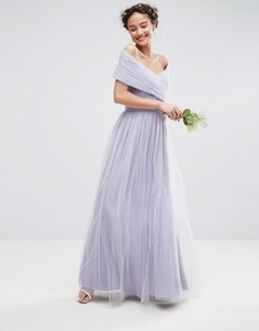 Платье макси из тюля ASOS WEDDING - Фиолетовый