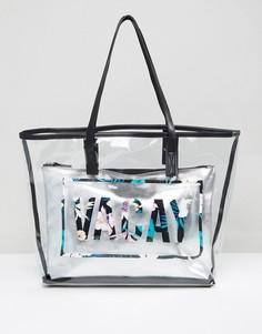 Прозрачная пляжная сумка New Look Vacay - Мульти