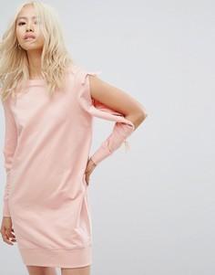 Трикотажное платье с разрезами на рукавах Noisy May - Розовый