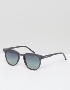 Круглые солнцезащитные очки Komono Devon Neutro - Черный