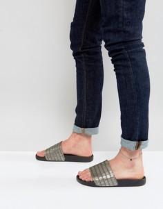 Серый браслет на ногу с цепочкой и шнурком DesignB эксклюзивно для ASOS - Серый