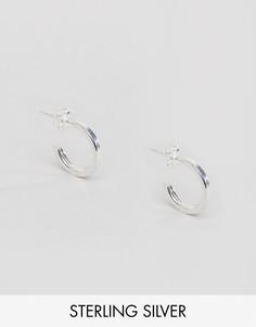 Серебряные серьги-кольца DesignB эксклюзивно для ASOS - Серебряный