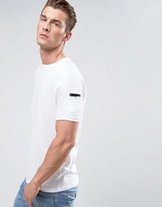 Длинная футболка с молнией Brave Soul - Белый