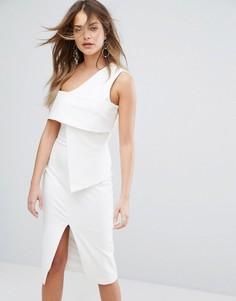 Асимметричное платье миди Lavish Alice - Белый