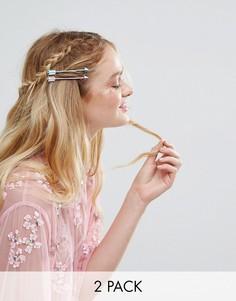 2 металлических заколки для волос ограниченной серии в виде стрел - Мульти Asos