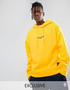 Желтый свободный худи с логотипом Sixth June - Желтый