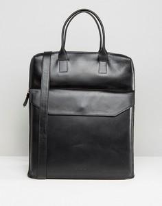 Кожаная сумка-тоут Royal Republiq Courier - Черный