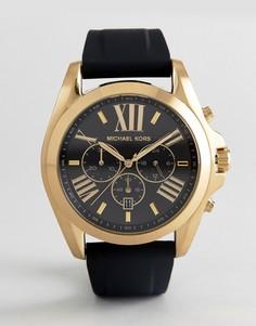 Часы 47 мм с черным ремешком Michael Kors MK8578 Bradshaw - Черный