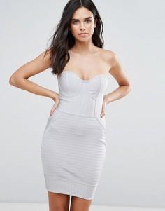 Бандажное платье-бандо Love & Other Things - Серый