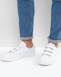 Белые кожаные кроссовки на липучках Fred Perry B721 - Белый