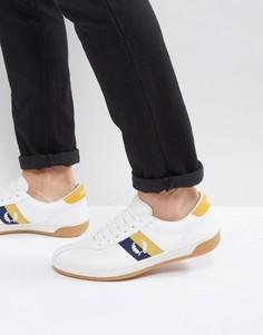 Белые кожаные кроссовки Fred Perry B1 - Белый