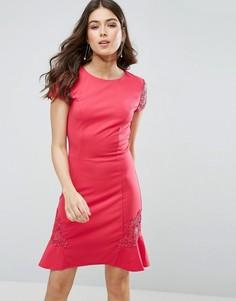 Платье с кружевными рукавами Little Mistress - Розовый