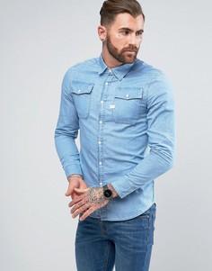 Рубашка из шамбре с длинными рукавами G-Star Landoh - Синий