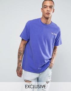 Oversize-футболка с вышитой надписью Reclaimed Vintage Inspired - Синий