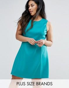 Короткое приталенное платье AX Paris Plus - Зеленый