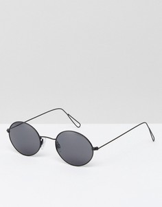 Круглые солнцезащитные очки в стиле ретро Weekday - Серебряный