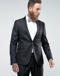 Эластичный пиджак скинни Selected Homme - Черный